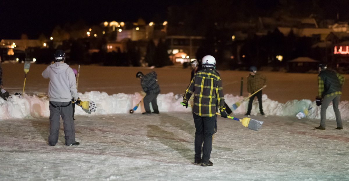More Broomball action at the Mirror Lake Inn