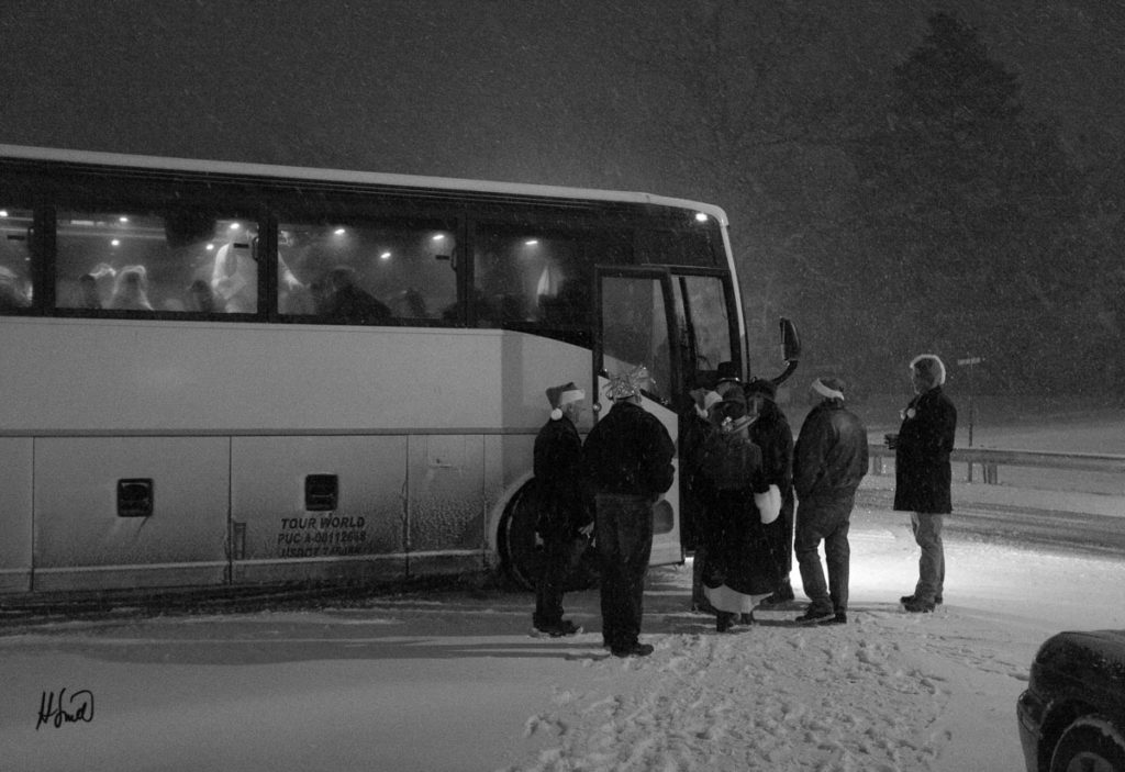 The Bus in Snow (Fujifilm X 100)